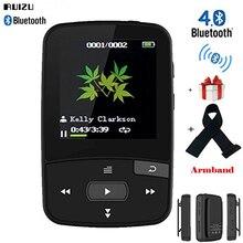Оригинальный ruizu X50 мини-Спорт Bluetooth MP3 музыкальный плеер с клипсой Экран Поддержка fm Радио, Запись, электронная книга, часы, шагомер