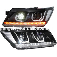 For Dodge Journey JCUV Fiat Freemont LED Head Lamps U Style 2009 2014 Year with LED High Beam ZJ