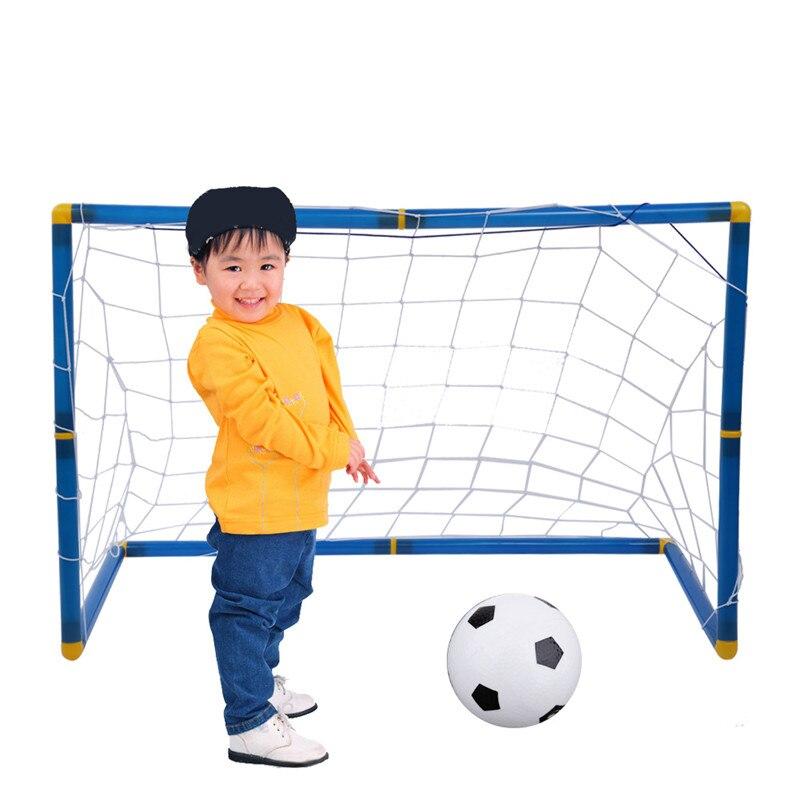 Portatile Pieghevole Set Porta di Calcio di Calcio Dei Capretti Dei Bambini Goal Cancelli con Palla Sport Gioco Outdoor Indoor Giocattolo Regalo di Calcio Cancelli