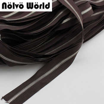 20 yards 5# two way MORE Higher quality Polished copper teeth zipper,Customize color zippers for sewing bags,clothing pants - DISCOUNT ITEM  0% OFF All Category