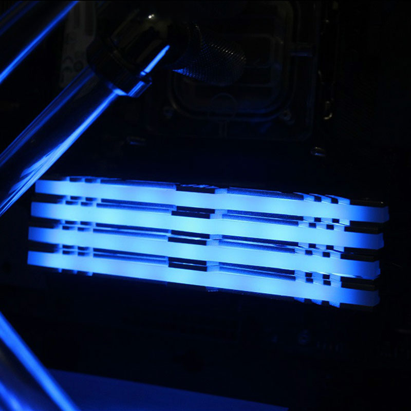 Newest Desktop Computer Cooling Case Decoration Monochrome LED Memory Vest Thermal RAMs Vest Light Heatsink Shell rgb 265 light effect ram cooling shell heat sink aluminum alloy memory cooling radiator glow desktop memory cooling vest