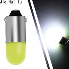 10 шт T11 BA9S удара круглый 3D светодиодные лампы T4W 1 SMD автомобилей номерных знаков свет лампочка указателя поворота Автомобильные стояночные огни двери лампа белый 12 V 10X