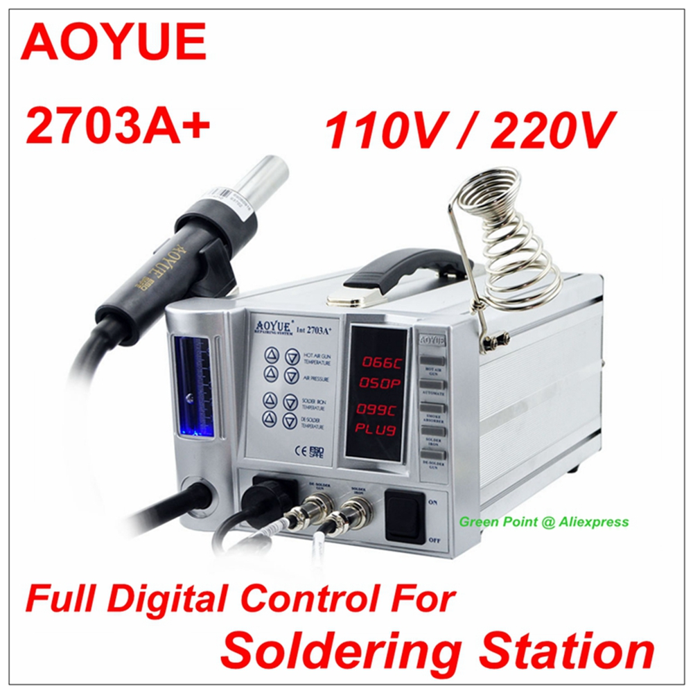New Product AOYUE 2703A Hot Air Soldering Station Hot Air Gun Multi fonction 4 In 1