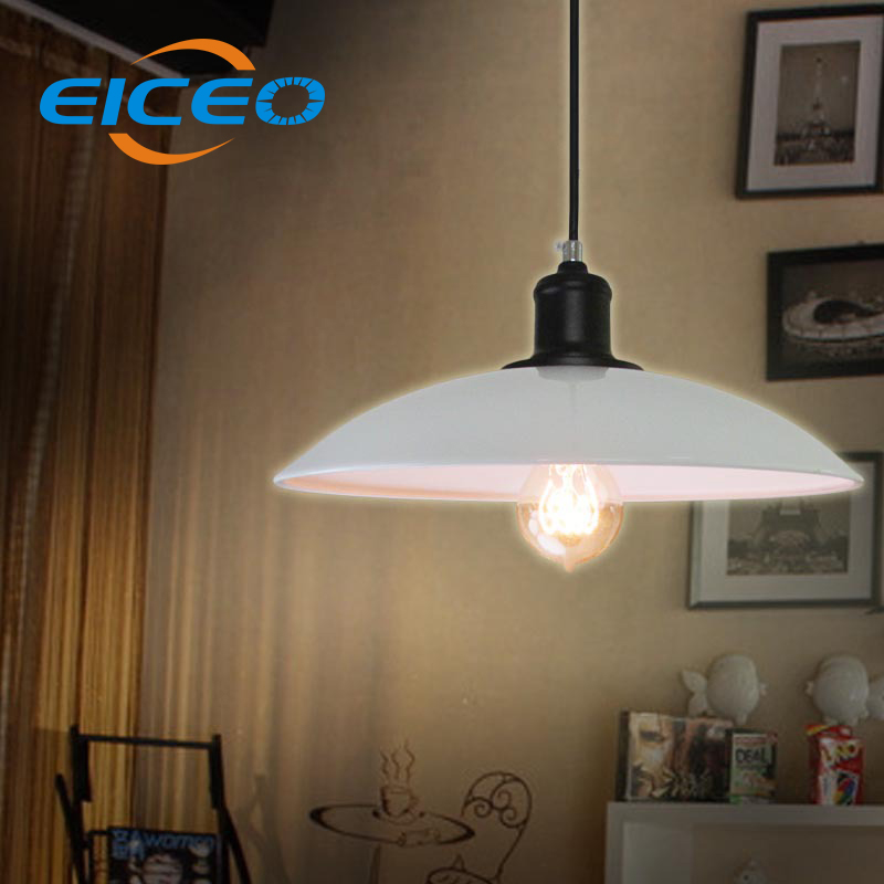 (EICEO) Explosion  Industrial Lighting Copper Personality Industry Restaurant White Living Chandelier LED Pendant Lamp