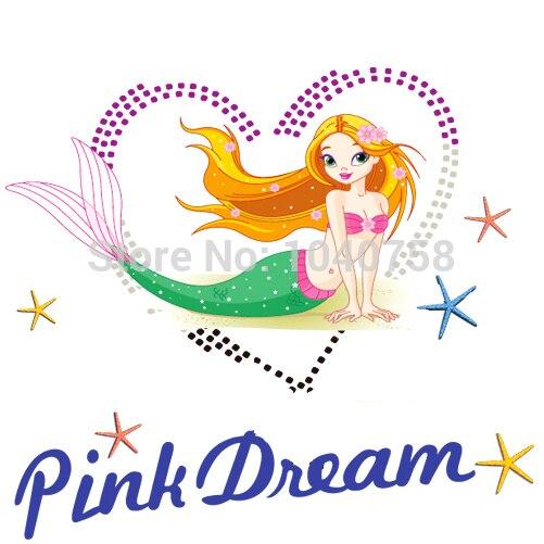 PVC Removable Princess Ariel Little Mermaid Wall Stickers Girls Room  Decoration Dream Wall Decor Decals Wallpaper