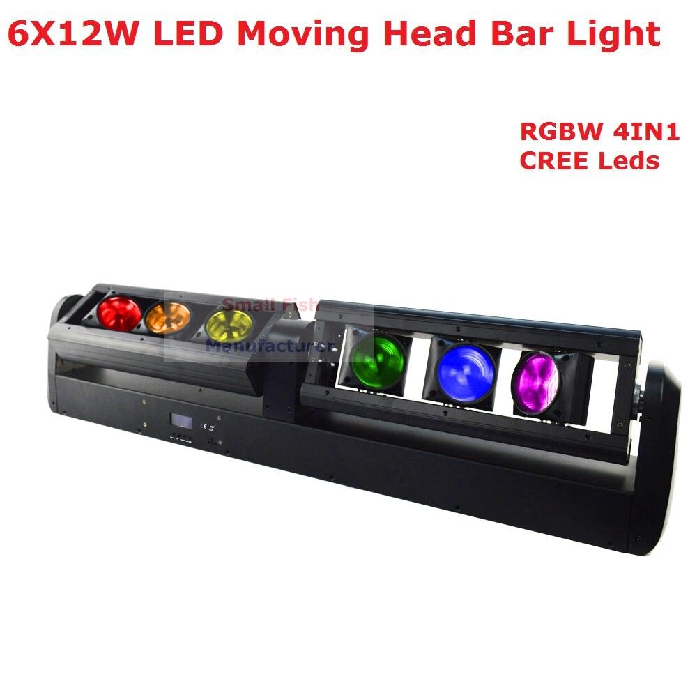 Free Shipping 6X12W RGBW 4IN1 <font><b>LED</b></font> Moving Head Bar Light <font><b>High</b></font> Quality 90W Bar <font><b>Beam</b></font> Moving Head Stage Lights 90-240V New Design