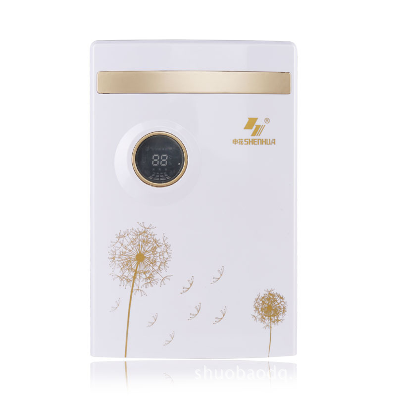 Home automatic electric dehumidifier LED display air purifying machine clothes drier wardrobe mini dehumidifying device home electric dehumidifier intelligent control mini air dehumidifying machine wet day clothes dryer helper device air purifier