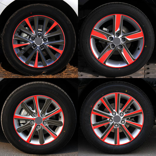 A Pattern Carbon Fiber Car Wheel Hub Stickers Rim Sticker Decoration Special Car-Styling  For Toyota Camry 17