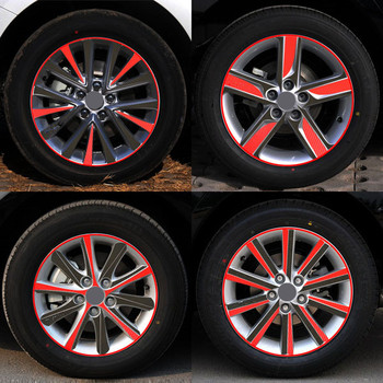 A Pattern Carbon Fiber Car Wheel Hub Stickers Rim Sticker Decoration Special Car-Styling For Toyota Camry 17 Z2CA630 image