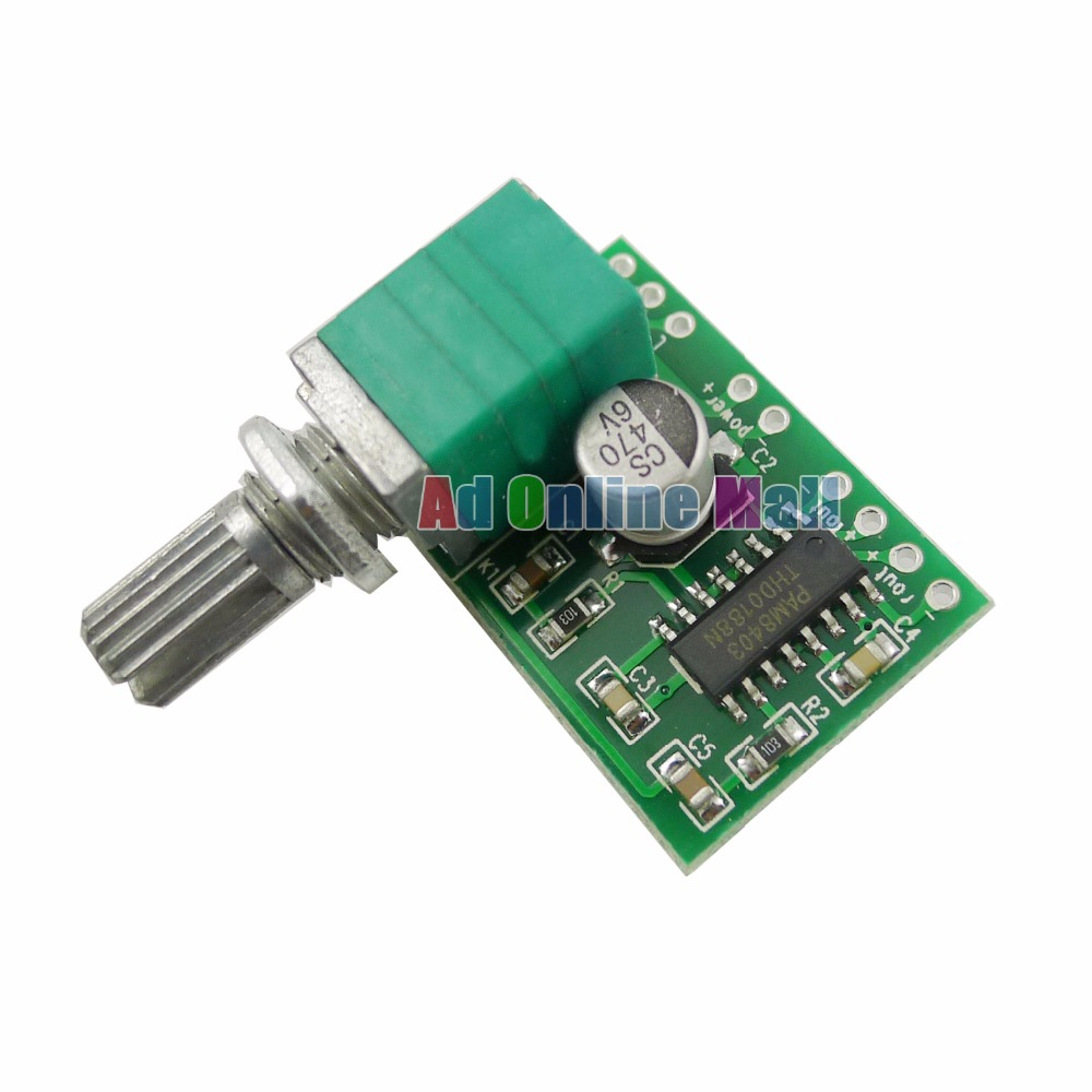 1pcs Pam8403 Mini 5v Power Digital Audio Amplifier Board 2 Channel Volume Control 3w With Switch Potentiometer In Integrated Circuits From Electronic