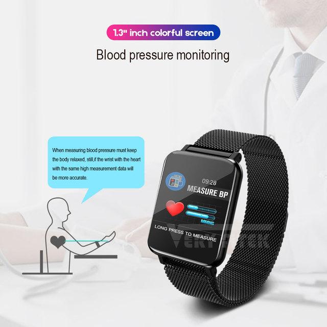 VERYFiTEK M19 Smart Watch Blood Pressure Heart Rate Monitor Women Men Clock Sport Fitness Tracker Smartwatch For Android IOS