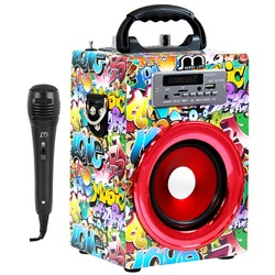 Bluetooth Speaker with Karaoke Wireless Handsfree with FM Radio MP3 Portable High Power for party BBQ