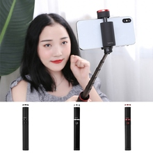 KISSCASE Tripod Bluetooth Selfie Stick For iPhone Xs MAX Portable Wireless Sticks With Fill Light Huawei P20 Lite Pro