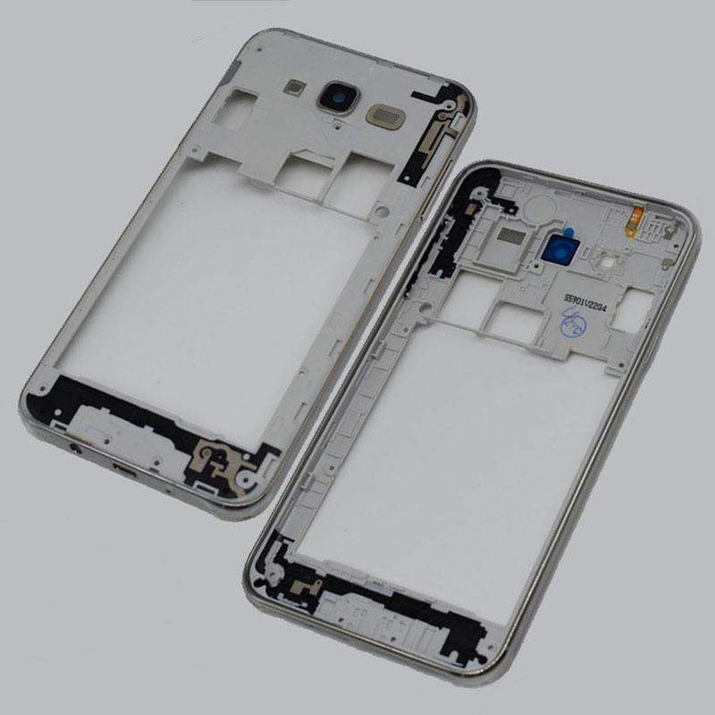 10pcs/lot Original For Samsung Galaxy J7 2015 J700 J700F Middle Frame Plate Bezel Housing Cover silver black gold color
