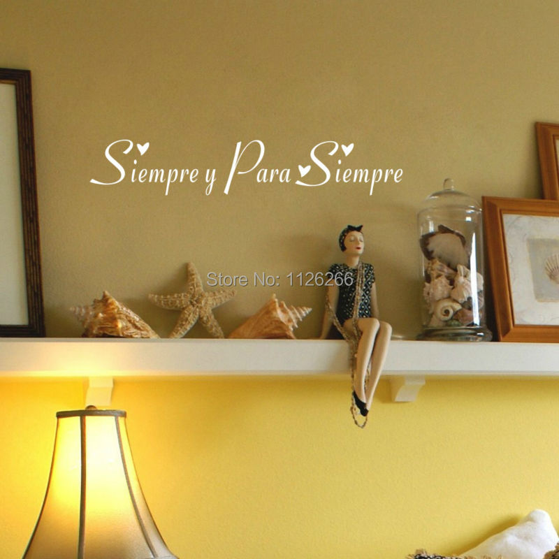 Aliexpress.com : Buy Siempre Y Para Siempre Spanish Always And Forever  Quote Wall Decal Art Home Decor Sticker From Reliable Sticker Shop  Suppliers On ...
