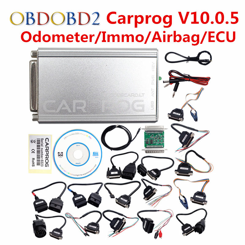 Carprog V10.0.5 / V8.21 Carprog Full Adapter Car Prog 8.21 Online Programmer For Airbag/Radio/Dash/IMMO/ECU Auto Repair Tool