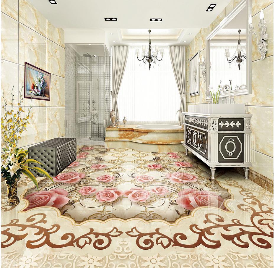 Photo wallpaper mural floor Custom photo floor wallpaper 3d PVC waterproof floor Custom Photo self-adhesive 3D floor