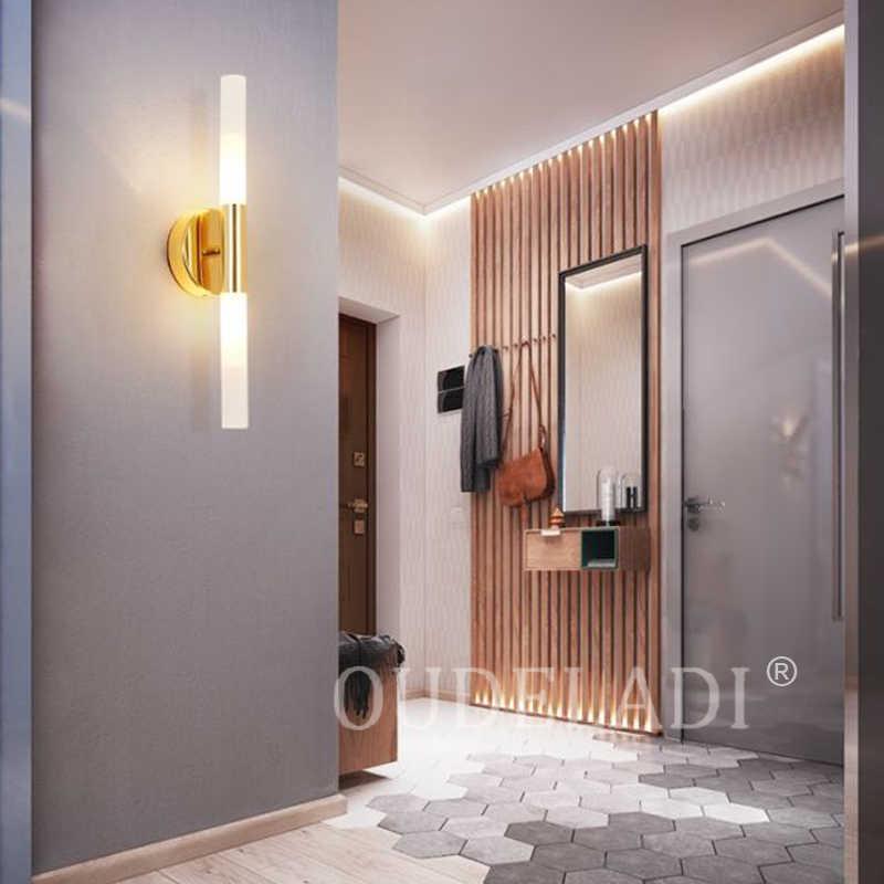 Moderne metall rohr rohr up down LED wand lampen Schlafzimmer foyer waschraum wohnzimmer wc bad wand licht lampe