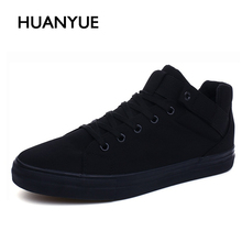 2017 Fashion Spring/Summer Canvas Shoes Men Breathable High-top Casual Shoes Men's Flat Espadrilles High Quality Black Men Shoes(China)