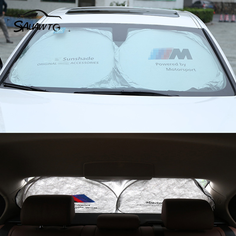 1PCS For BMW E90 E60 F10 F30 F15 E63 E64 E65 E86 E89 E85 E91 E92 E93 F02 M5 E61 F01 M LOGO Car Sunshade Sun shade Front Rear car led door logo projector ghost shadow light for bmw 3 5 6 7 m3 m5 e60 e90 f10 e63 f30 e64 e65 e86 e92 e85 e93 e61 f01 f02 gt
