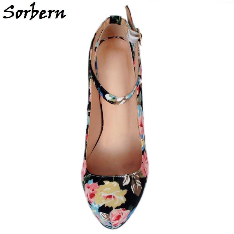 Größe Heels Frühling Schuhe Dame Sorbern De Große Nach Elegantes Zapatos Drucken High Pumpt Schwarzes Maß Altos Blumen 2019 Frauen Mujer gOnt5w