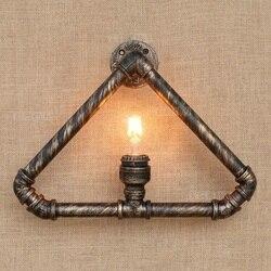 Loft kreatywny styl trójkąt wodociąg lampy przemysłowe rocznika ścianie oprawy oświetleniowe dla domu Edison kinkiet ścienny lampora Pared