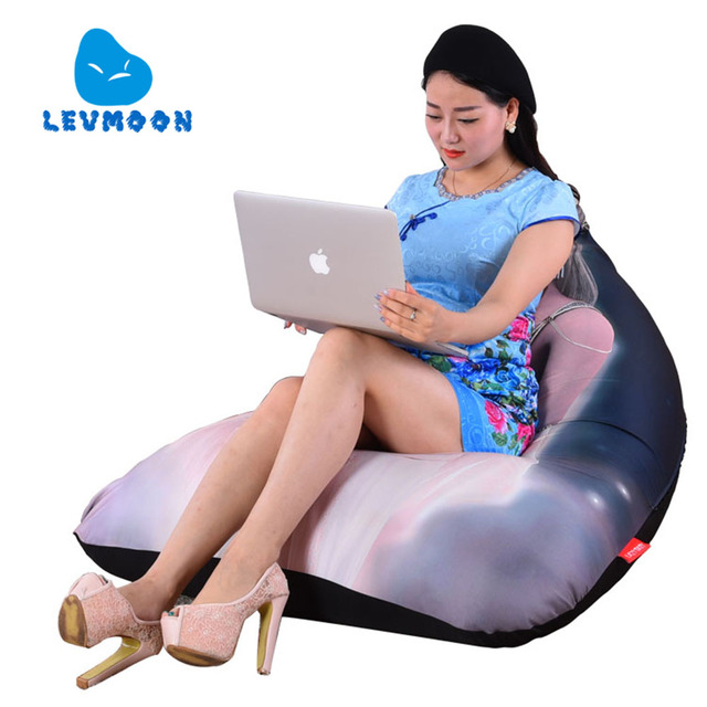 LEVMOON Beanbag Sofa Chair Fairy Beauty Girl Zac Comfort Bean Bag Bed Cover  Without Filler Cotton