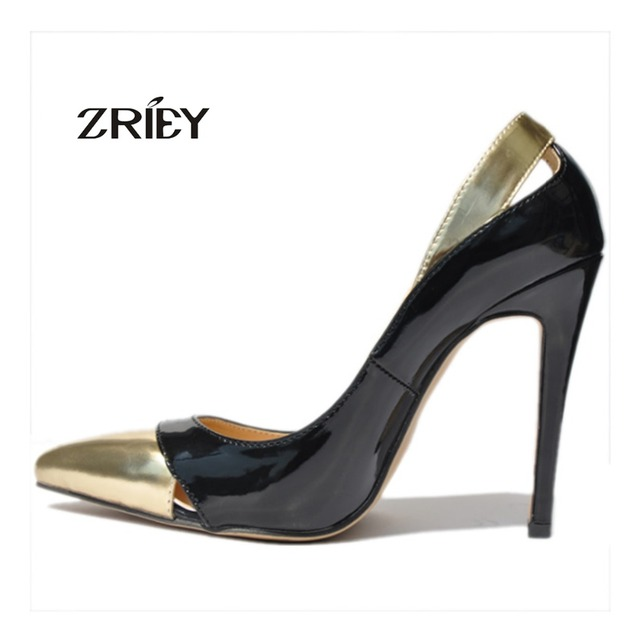 Black Gold Specially Womens High Heels Pump Stilettos Platform Pumps Pointed Toe party Shoes Shallow Slip-On Shoes