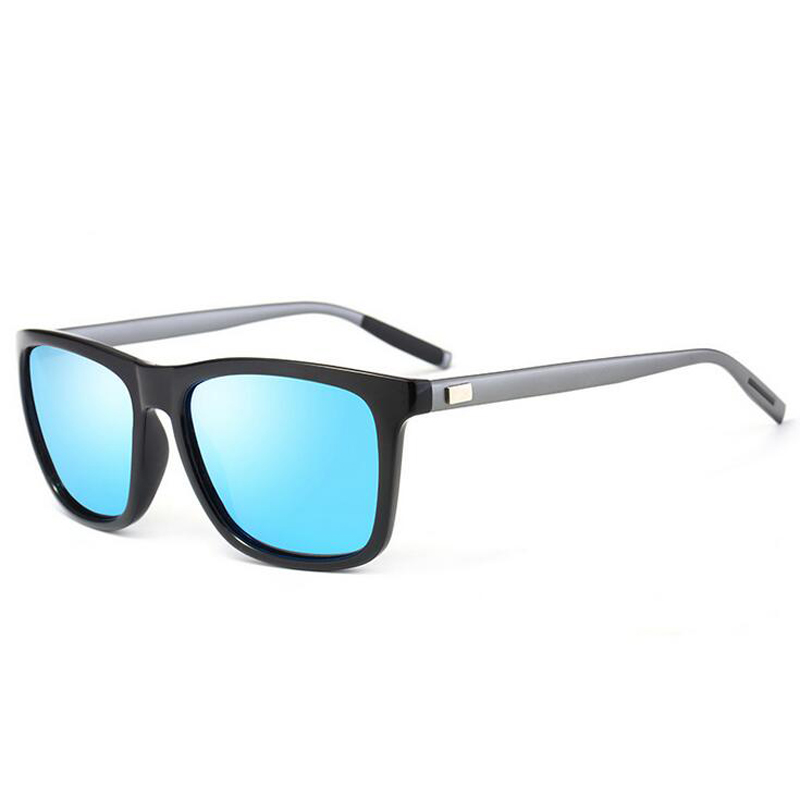 Men's Metal Polarized Sunglasses Unisex Aluminum+TR90 Sunglasses Polarized Lens Vintage Eyewear Accessories Sun Glasses 387