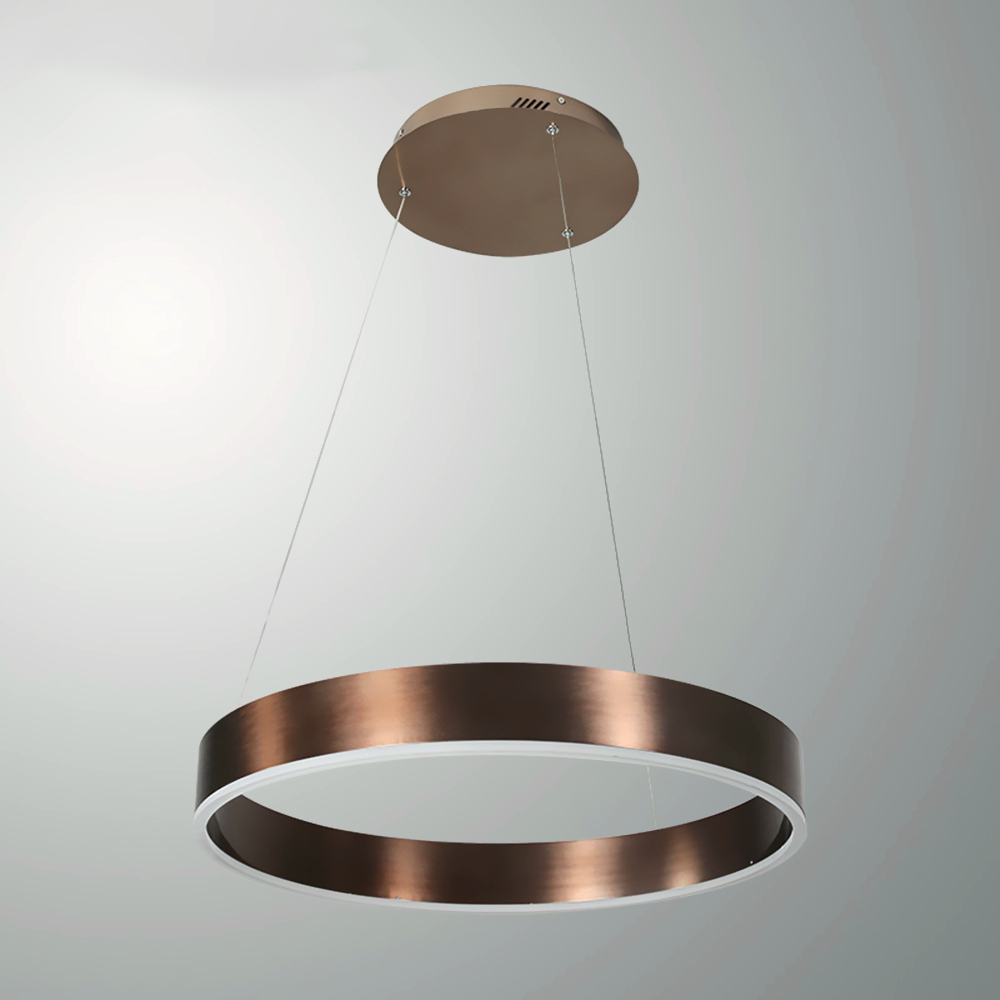 Modern Led pendant lights for living room 2/1 Circle Rings acrylic LED hanging kitchen gold body handing Lamp acrylic ZDD0038