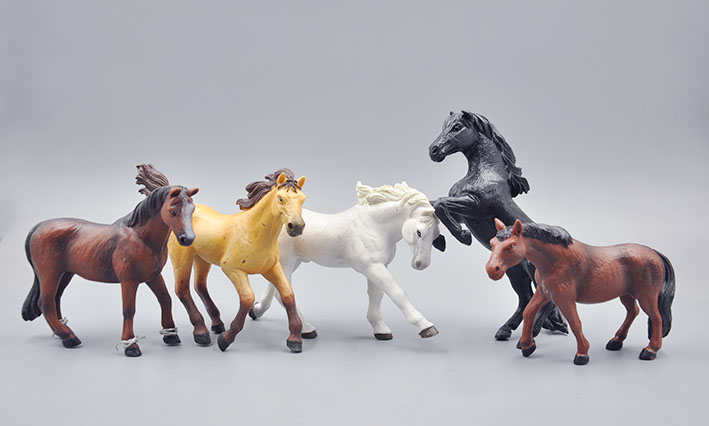high quality pvc figure Genuine simulation model toy horses 5 pcs/set 12pcs set simulation model toy scene decorationsteamboy ornaments pvc figure