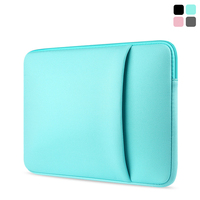 Hot Sale Laptop Solid Sleeve Bag Cases With Outer Pocket For Macbook Air 11 13 Inch