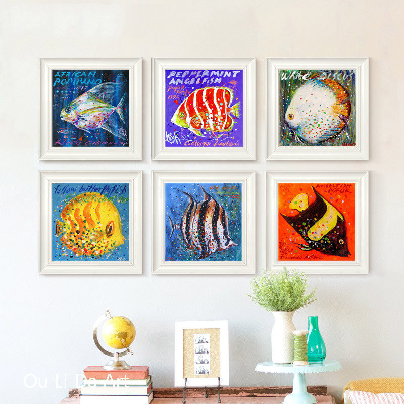 no frame Turkey west Noel for fish cartoon canvas printings oil painting printed on canvas modern wall art decoration pictures