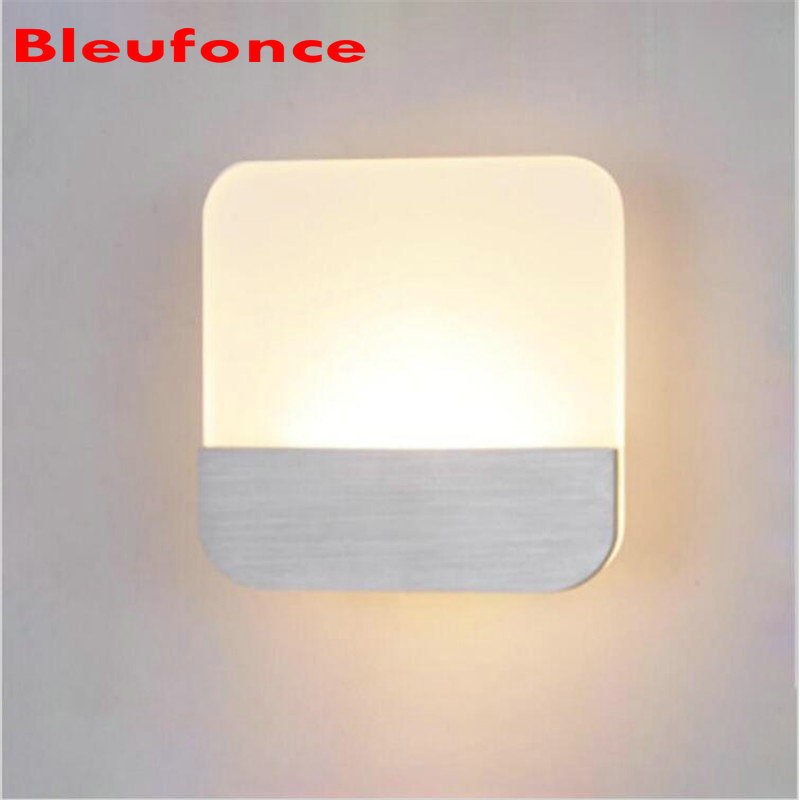 Wall Light LED Wall Lamp Bedroom Bedside Living room Hallway Stairwell Balcony Aisle Lamp Modern Creative Balcony LampHZ63 wall light 12w led wall lamp bedroom bedside living room hallway stairwell balcony aisle balcony lighting ac85 265v hz64
