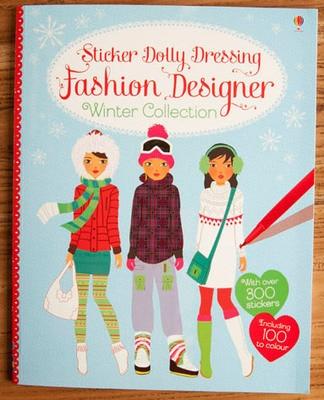 1 Pcs The New Four Seasons Fashion Designer Winter Colloction Princess Dress Sticker Books Girls Gifts For Children