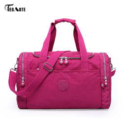 Tegaote mulheres sacos de viagem 2017 moda grande capacidade à prova dwaterproof água bagagem duffle saco casual totes grande fim de semana viagem saco turístico