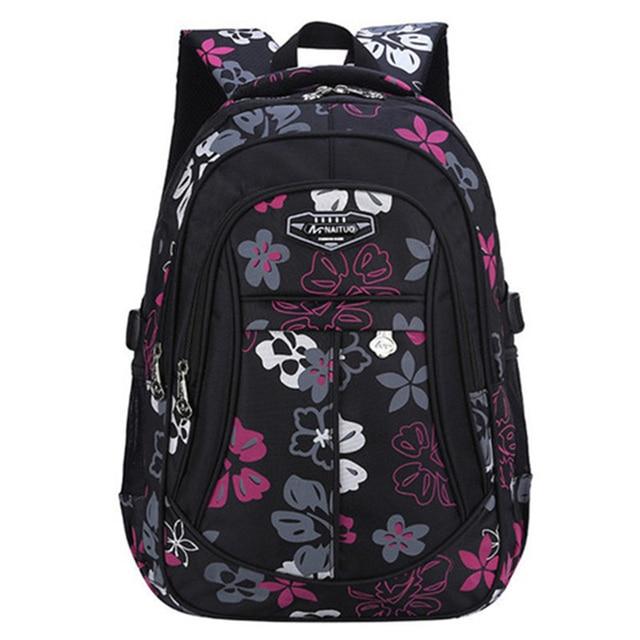 475b6974a Moda Floral impressão Sacos De Escola para Meninas Mulheres Marca Mochila  de grande capacidade Bolsa de