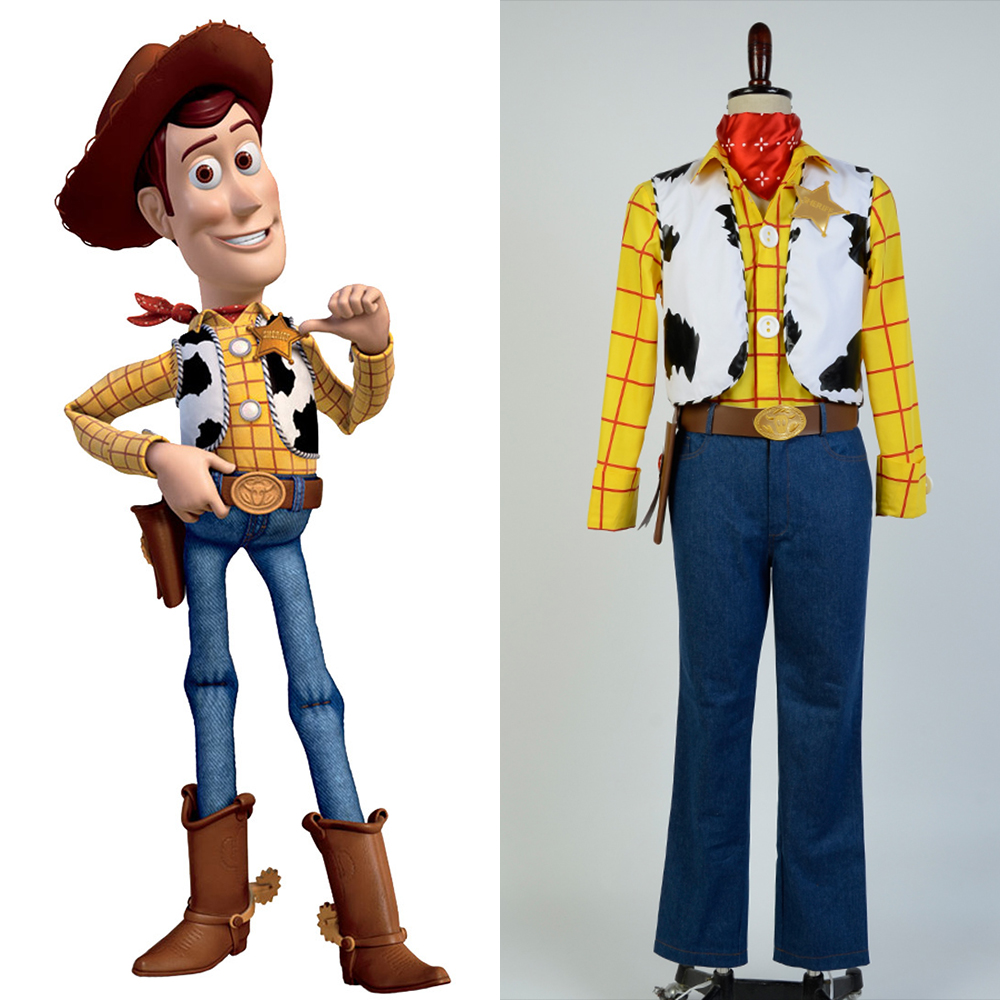 New Toy Story Cowboy Sheriff Woody Outfit Halloween Party Full Set Cosplay Costume Costom Made For Adult Men
