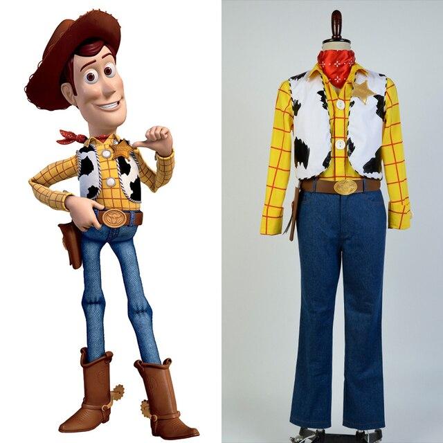 28360c7e377ad Toy Story Sheriff del vaquero Woody Cosplay traje Halloween partido  conjunto completo para hombres adultos