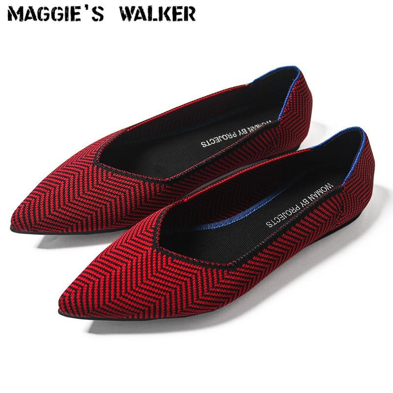 Maggie's Pk Pointed Fashion Chaussures Plates Femme Bazaar Walker Chaussures nPwxaPHAqX