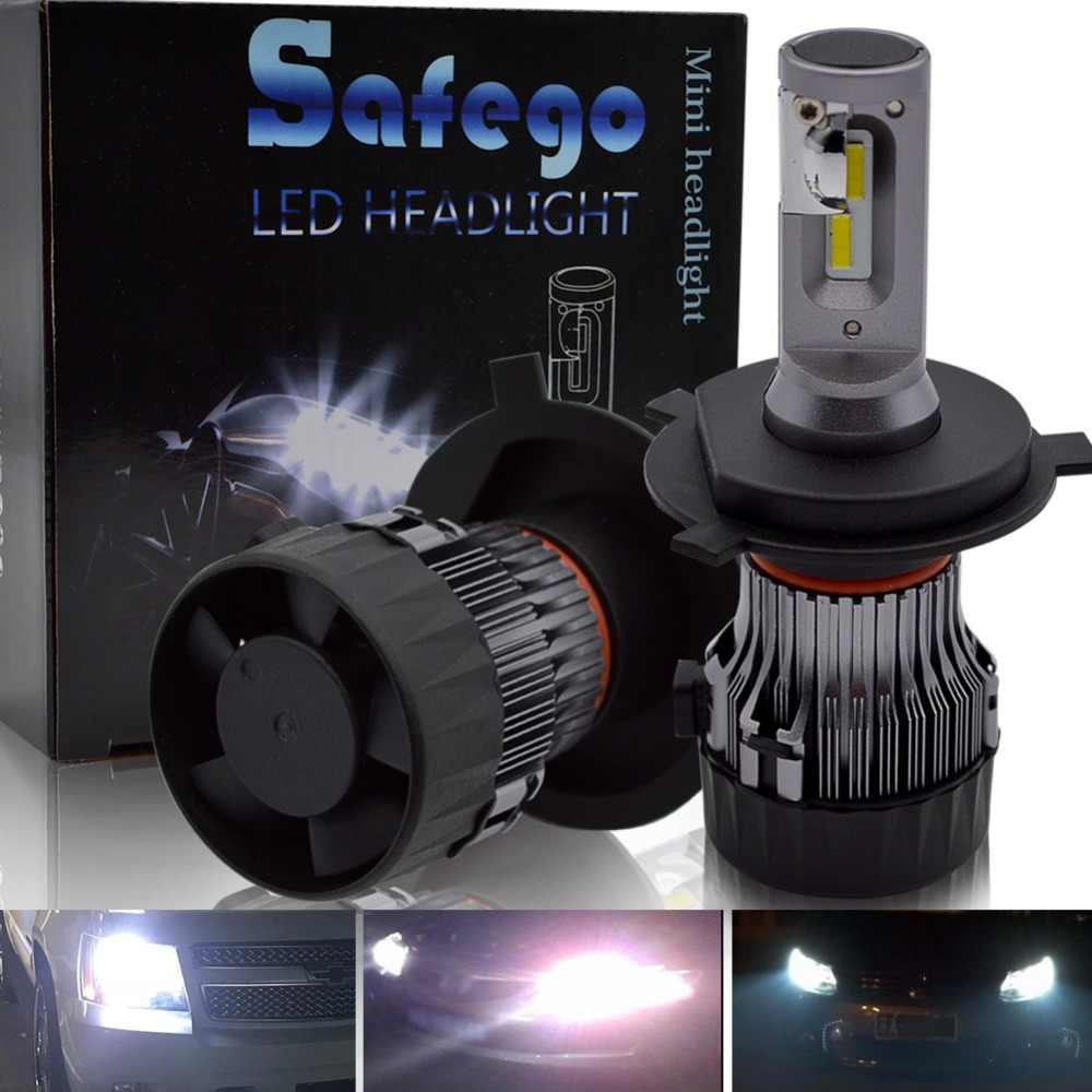 H7 LED Car Headlight Kit - Safego H4 Hi/Lo H8 H9 H11 9005 9006 36W 5000Lm High Quality LED Chips Super Bright Conversion Kit