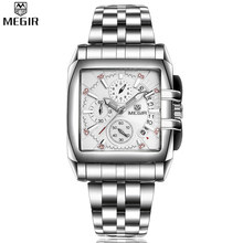 MEGIR Auto Date Chronograph Waterproof Multifunction Stainless Steel Quartz Watches Sport Casual Famous Brand For Charm