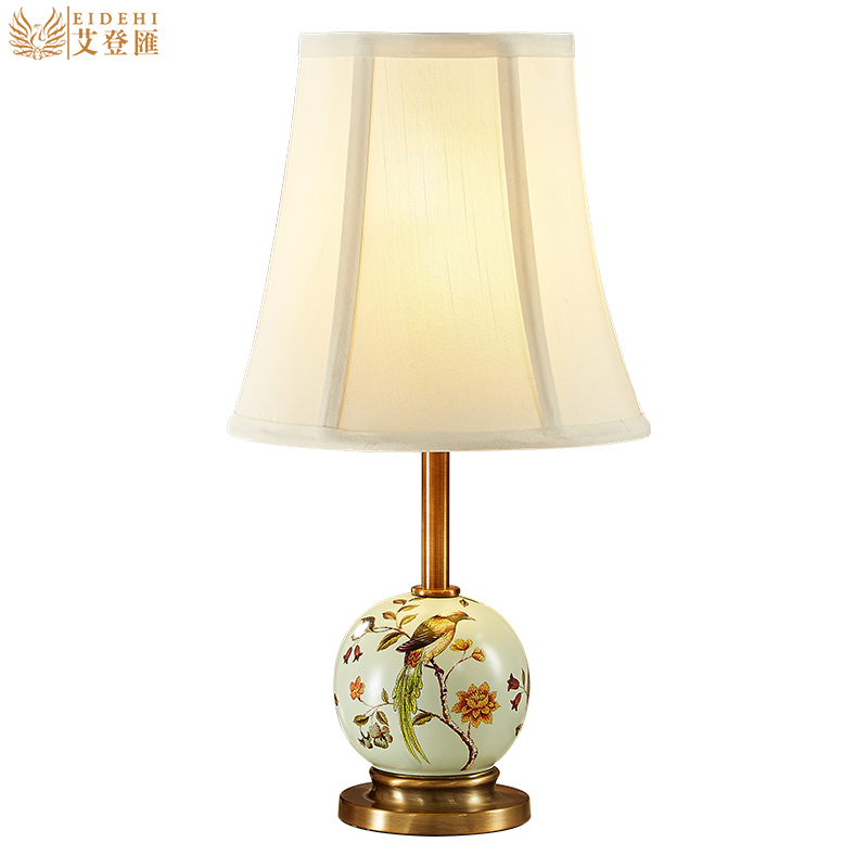 pastoral european hand painted ceramic e27 table lamp