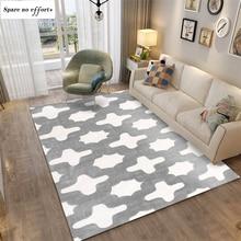 High Light Grey Design Cotton Area Rug for Bedside Living Room Tapetes Para Casa Sala Tapis Salon Rugs for Bedroom