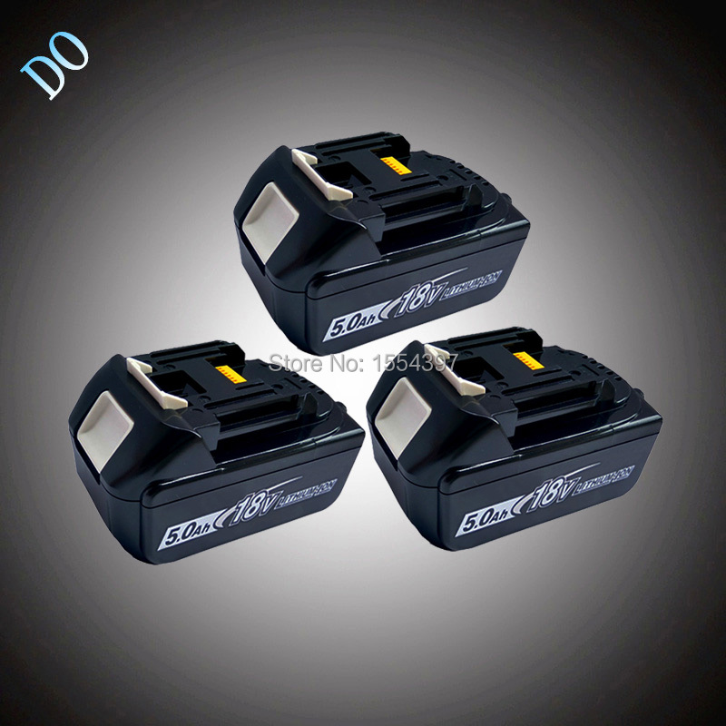 3PCS 5000mAh Power Tool Battery Rechargeable Lithium Ion Packs Replacement for Makita 18V BL1830 BL1840 BL1850 LXT400 194205-3 cm 052535 3 7v 400 mah для видеорегистратора купить