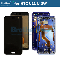 LCD Screen for HTC U11 U 3W LCD Display With Frame Button Touch Screen Digitizer for HTC U11 LCD Assembly 5.5'' Replacement Top
