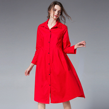 Plus size Women casual cotton shirts Loose Long sleeve pleated spring womens shirt Big yards Square collar  XL to 4XL red black