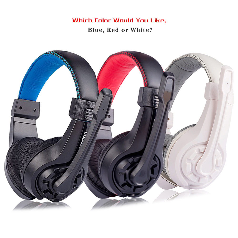 Gaming Headphones with Microphone 3.5MM jack Stereo Heavy Bass Headset earphones for Laptop Computer PC game Lupuss G1 rock y10 stereo headphone earphone microphone stereo bass wired headset for music computer game with mic