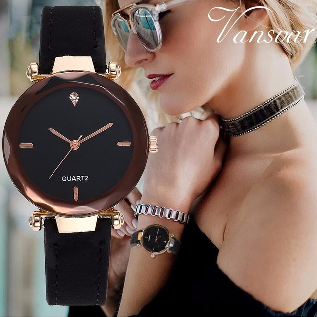 New Ladies Fashion Top Brand Clock Analog Quartz Women Dress Wristwatch Simple L