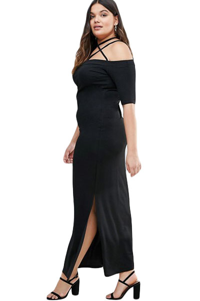 Strap-Detail-Plus-Maxi-Dress-with-Side-Slits-LC61465-2-2